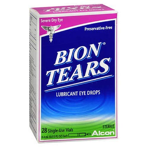 Bion Tears Lubricant Eye Drops Single Use Vials - 28 ct, Pack of 2 ()