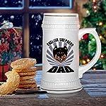 Custom Beer Mug Dad English Shepherd Dog Ceramic Drinking Glasses Beer Gifts White 18 OZ Design Only 13