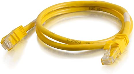 Network Patch Cable Utp C2g 1ft Cat5e Snagless Unshielded Yellow