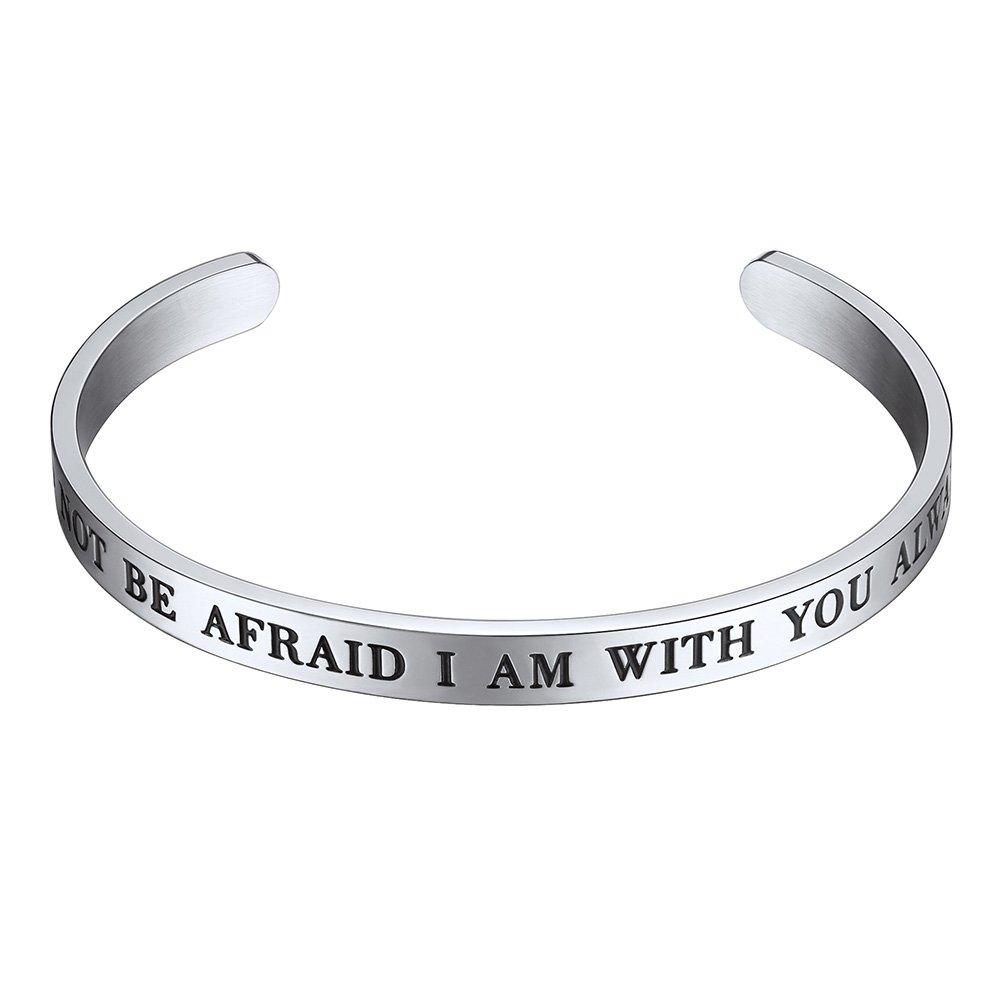 Adjustable Cuff Bracelet Do Not Be Afraid I am with