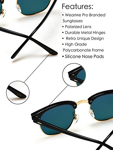 347849331388 WearMe Pro - Classic Half Frame Polarized Semi-Rimless Rimmed Sunglasses    Departments   Clothing