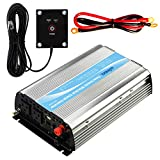Giandel 1000Watt Power Inverter 12V DC to 110V 120V AC 20A Solar Charge Controller Remote Controller Dual AC Outlets & 2.4A USB Port Big Shell