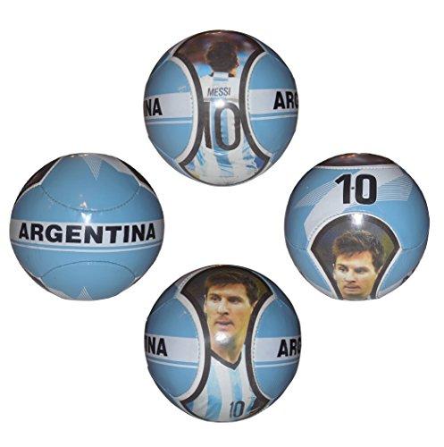 Superstar Soccer Ball FIFA Size 5 Best Gift for Soccer Training | Cristiano Ronaldo Portugal Juventus CR7 | Leo Messi Barcelona (#10 Messi ARG - 6 Panel)