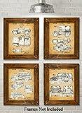 Best Set For Jeeps - Original Jeep Patent Art Prints - Set of Review