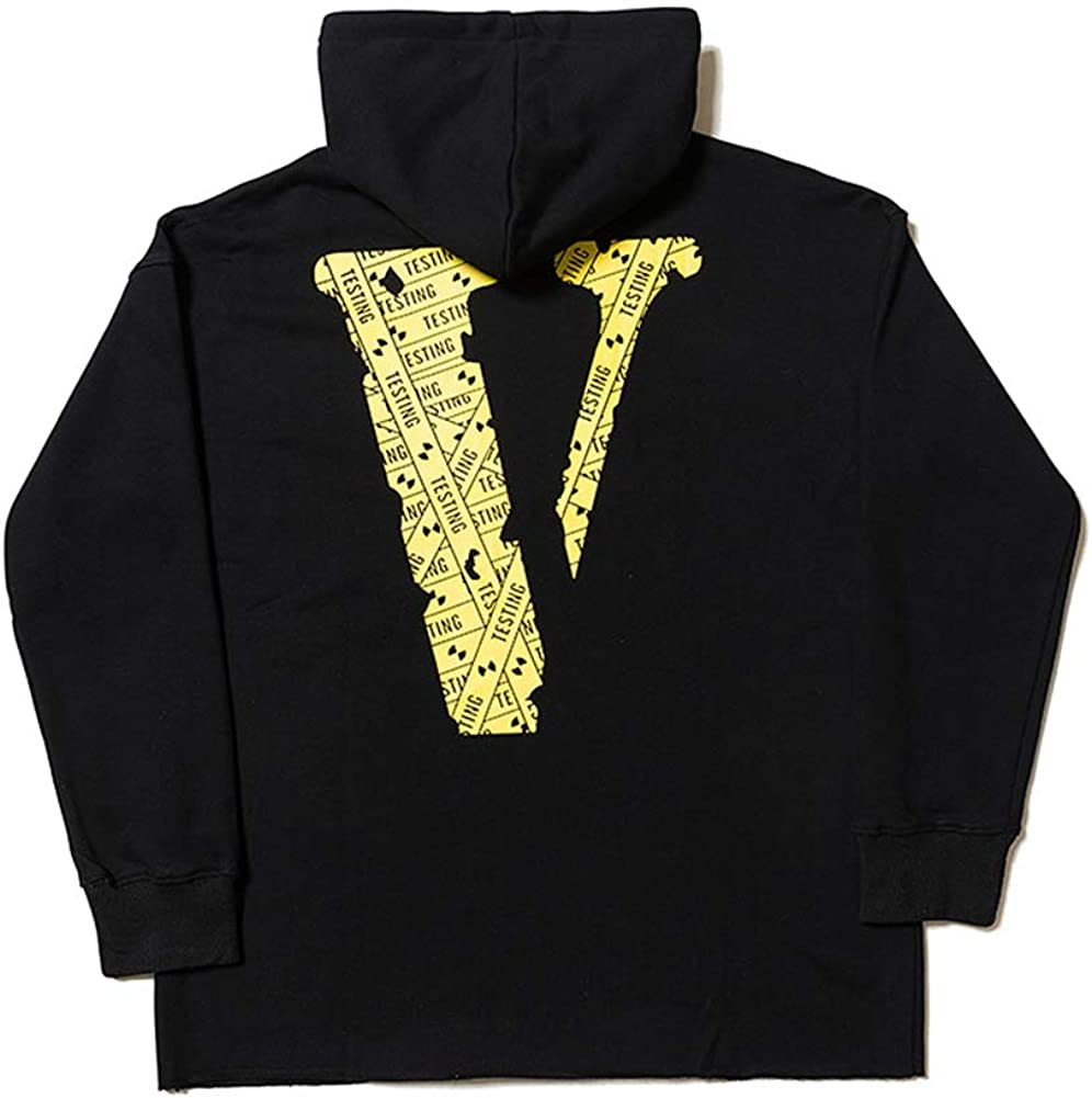 mich V Vlone Life Torn Edge Personality Hooded Sweater for Men and Women