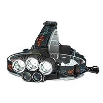SGODDE LEDヘッドライト 超高輝度10000ルーメン 防水仕様 5段階...