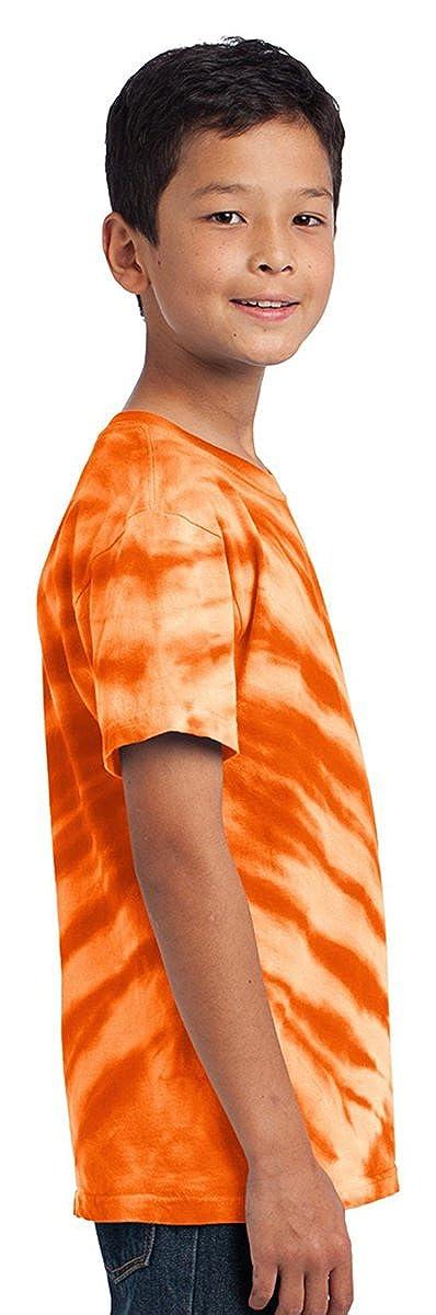 Port /& Company PC148Y Youth Essential Tiger Stripe Tie-Dye Tee
