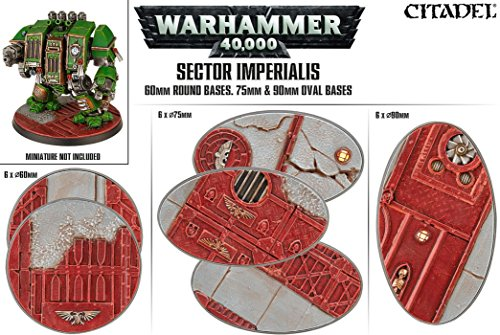 Sector Imperialis 60mm Round Bases, 75mm and 90mm Oval - 60mm Round