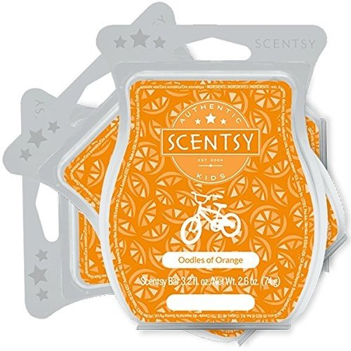 Scentsy, Oodles of Orange, Wickless Candle Tart Warmer Wax 3.2 Oz Bar, 3-pack (3) from Scentsy Fragrance