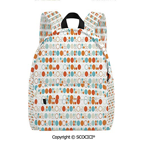 SCOCICI Girls Fashion Printed Pattern Backpack (11.5