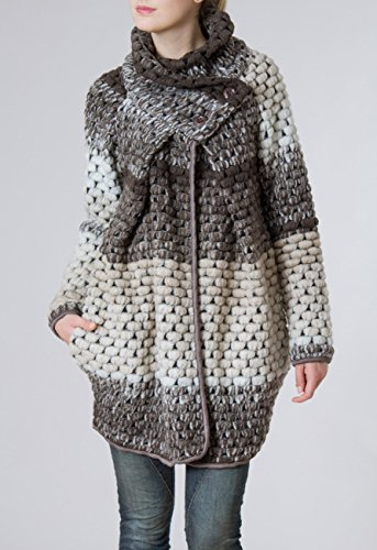 L'hiver Femme Caspar Laine Pour En Manteau Gilet Coloris Marron Épais Plusieurs Mtl007 wqxq1O86