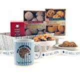 Get Well Soon Gifts - One Tough Cookie Hamper - Available for Next Day Delivery to Hospital - Cookie Gifts with Printed Get Well Soon Ribbon