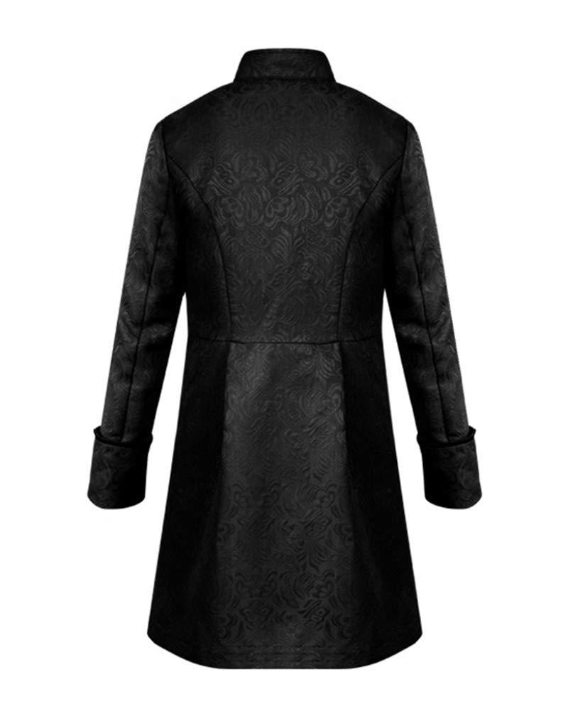 GladiolusA Chaqueta Gotica Steampunk Hombres Traje Vestido Victoriano Uniforme De Chaquetas Abrigo