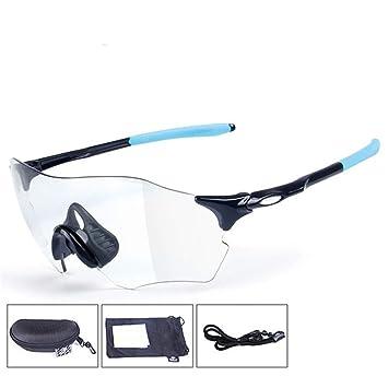 QA.SPG Gafas de Ciclismo Fotocromaticas decoloración UV 400 ...