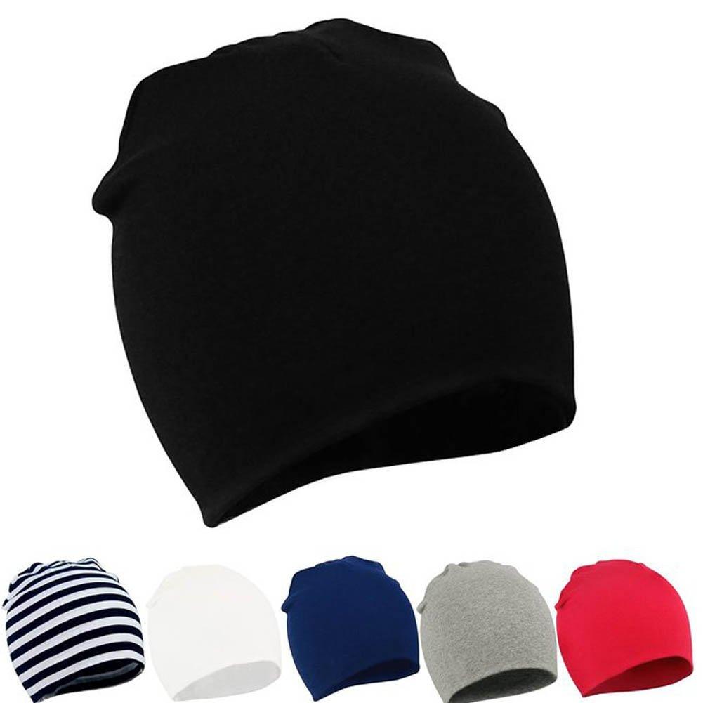 YJWAN Unisex Baby Beanie Kids Toddler Infant Cotton Soft Cute Lovely Knit Hat Cap CAYJ00147-BKBWGR
