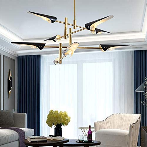 KALRI Modern Black Sputnik Led Chandelier