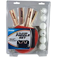 Franklin Sports 4-Player Paddle Set