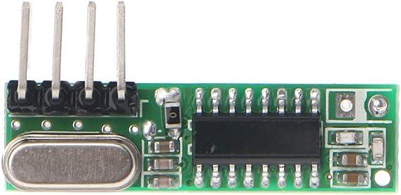 FangWWW 1 Set RF Módulo 433 MHz Superheterodyne Receptor y Transmisor Kit con Antena Compatible para Arduino: Amazon.es: Electrónica