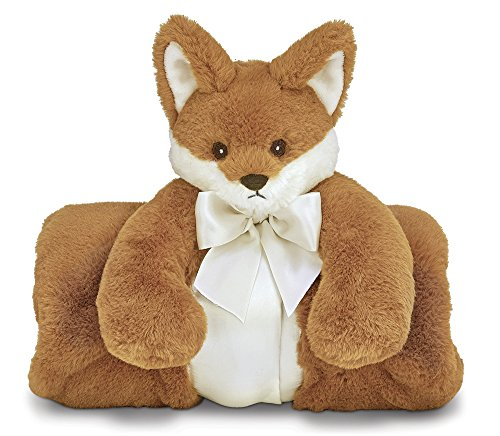 Bearington Baby Fritz Cuddle Me Sleeper, Fox Large Size Security Blanket, 28.5'' x 28.5'' by Bearington Collection