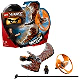 LEGO 70645 Ninjago Cole Dragon Master Flying Toy, Easy to Fly Glider for Kids