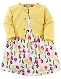 Baby Girls' Dress and Cardigan Set