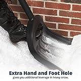 The Snowcaster 100ERG Ergonomic Snow Shovel and