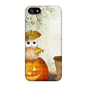 Durable Case For The Iphone 5/5s- Eco-friendly Retail Packaging(scarecrow Owls Halloween)
