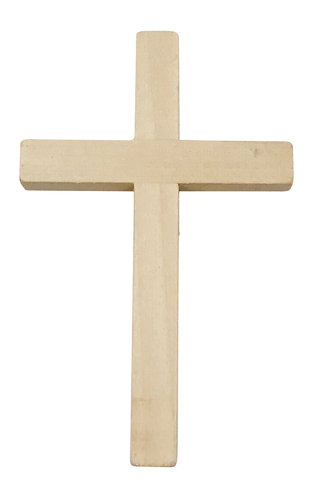 """Wooden Crucifix Crosses One Pack of 10 Pieces 5"""" Tall Natural Color"""