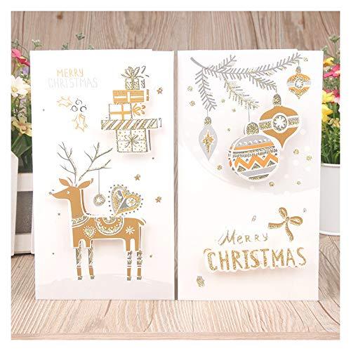 Topdo 8X Tarjeta de Felicitaci/ón Navidad con Papel Sobres para Navidad Fiesta Greeting Card Cumplea/ños Boda Postal Regalo A/ño 21.7 12cm Elementos navide/ños