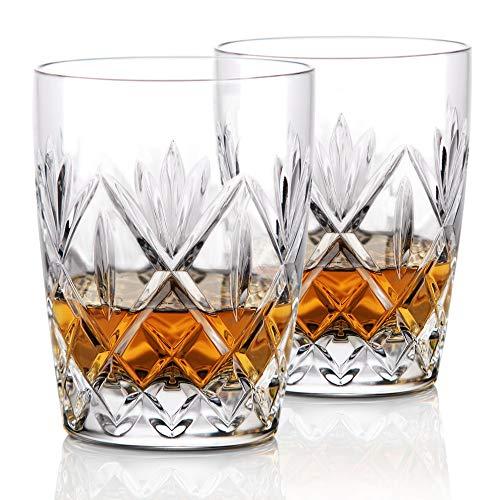Waterford Crystal, Huntley Crystal DOF Whiskey Tumblers, Pair