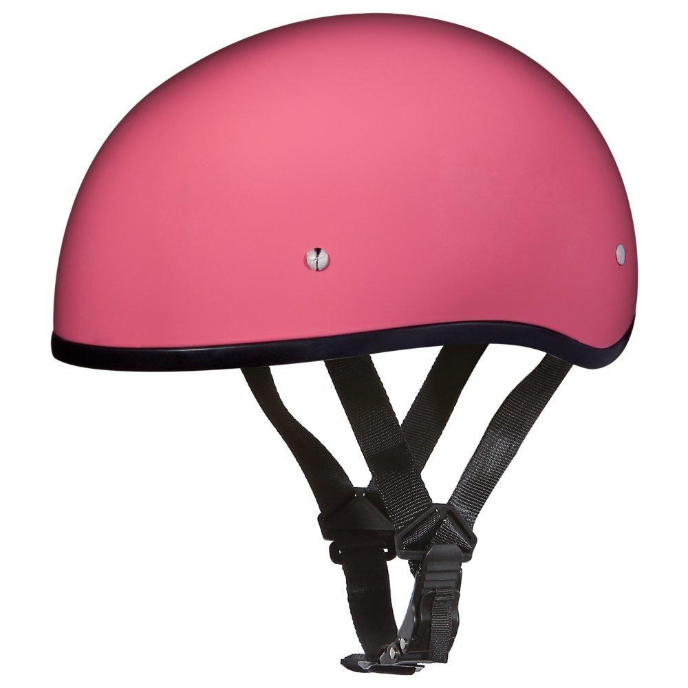 Hi Gloss Pink Motorcycle Helmets | Skull Cap Helmets | D.O.