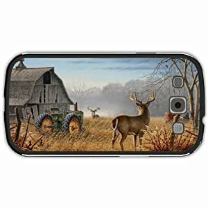 New Style Customized Back Cover Case For Samsung Galaxy S3 Hardshell Case, Black Back Cover Design Deer Personalized Unique Case For Samsung S3