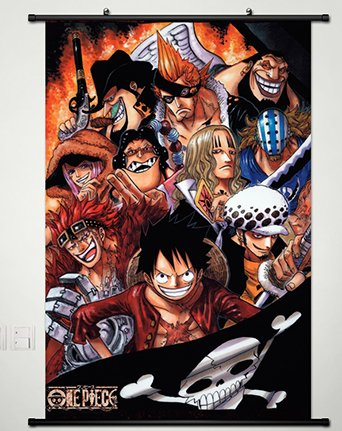 Home Decor One Piece luffy Cosplay Anime Fabric Wall Scroll