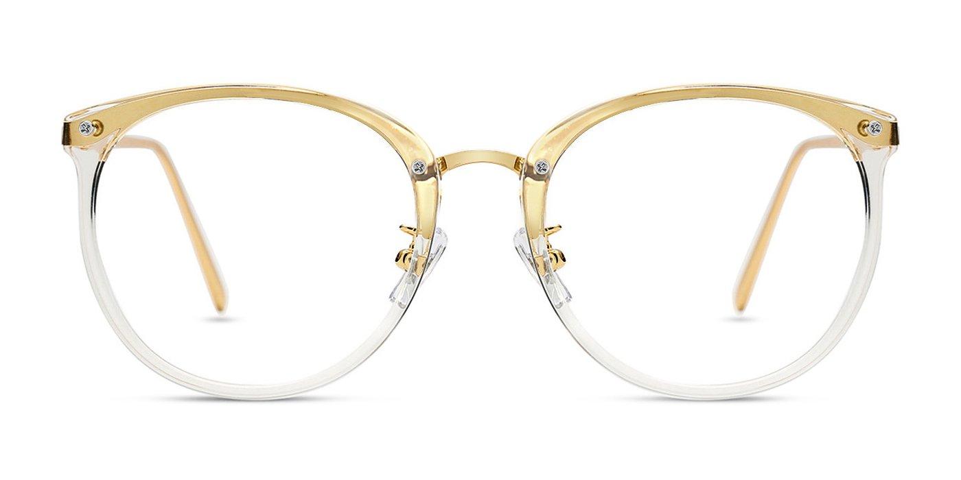 TIJN Blue Light Block Glasses|Round Optical Eyewear Non-prescription Eyeglasses Frame for Women