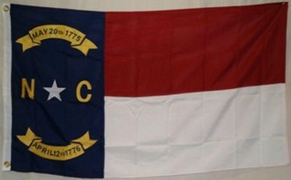 国内発送 3 ' x 5刺繍縫製の状態North Carolina合成コットンフラグ3 3 ' x5 ' 3クリップ ' B01N1YN0B5, カーマイスター:7026d25a --- xn--paiius-k2a.lt