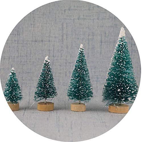 (Mini Christmas Tree Snow Frost Small Pine Tree DIY Craft Desktop Decoration Christmas)