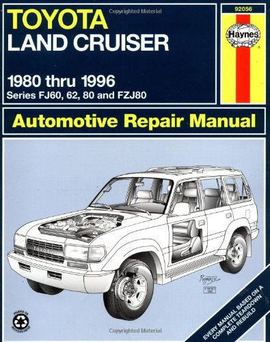 toyota land cruiser fj60 62 80 fzj80 80 96 haynes repair rh amazon com toyota land cruiser 80 series service manual pdf 80 series land cruiser service manual