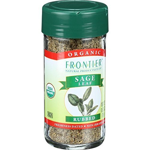 Sage Leaf, 95% organic, Rubbed .40 oz (Multi-Pack) by Frontier