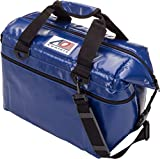 AO Coolers Water-Resistant Vinyl Soft Cooler with High-Density Insulation, Royal Blue, 24-Can