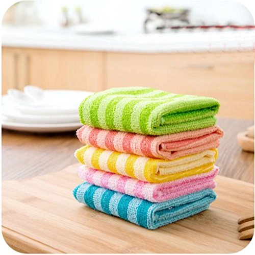 Price comparison product image Dish Cloth Kitchen Cloths Lint-Free Towel Nonstick Oil 5 Pack