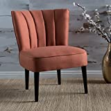 Cheap Leafdale Plush Fabric Accent Chair (Orange)