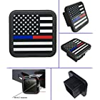USA US American Flag Trailer Hitch Cover tube Plug Insert (Fits 2″ Receivers)