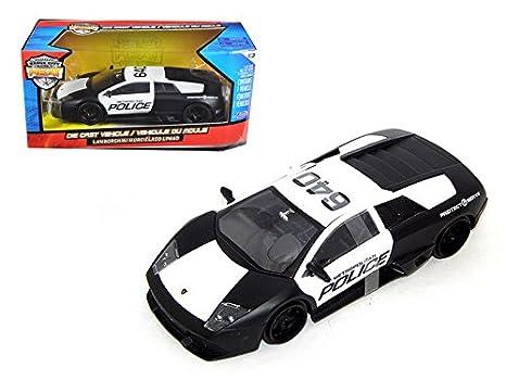 Amazon Com Lamborghini Murcielago Lp640 Police Car Jada Diecast 1