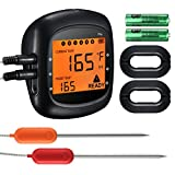 Habor Wireless Meat Thermometer, Bluetooth Remote Digital Cooking Thermometer Larger LCD Backlit BBQ Thermometer with Alarm Monitor for Kitchen Grill Smoker for Android and IOS(Dual Probe)