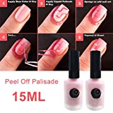 TR.OD 15ml Makeup Pink Peel Off Liquid Peel Off Base Coat Nail Care Pink Bild 2