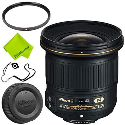 Nikon AF-S NIKKOR 20mm f/1.8G ED Lens Base Bundle