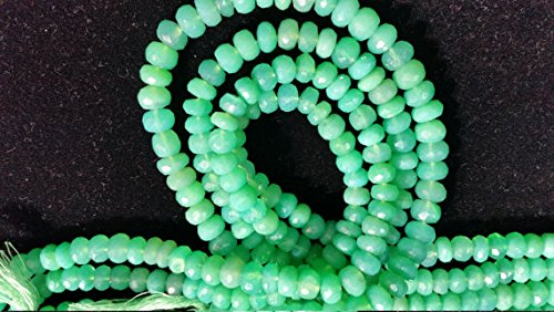 Chrysoprase Faceted Roundel Beads 7-8mm, very good colore beads 14 Inch