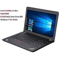 2017 Lenovo ThinkPad E560 15.6 Inch Premium Flagship Laptop (Intel Core i5-6200U up to 2.8GHz, 16GB RAM, 512GB SSD, Intel HD 520, WiFi, DVD, HDMI, Windows 7 Professional) (downgrade from Win 10 Pro)