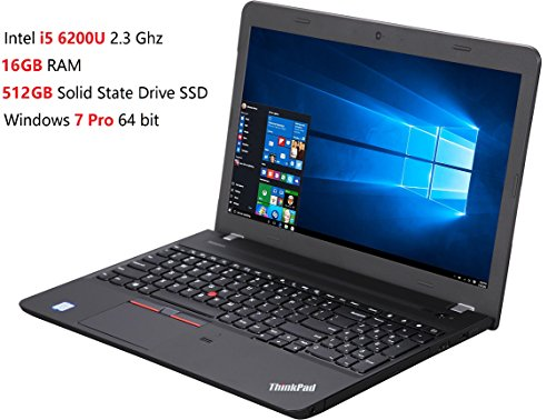 2017 Lenovo ThinkPad E560 15.6 Inch Premium Flagship Laptop (Intel Core i5-6200U up to 2.8GHz, 16GB RAM, 512GB SSD, Intel HD 520, WiFi, DVD, HDMI, Windows 7 Professional) (downgrade from Win 10 Pro)