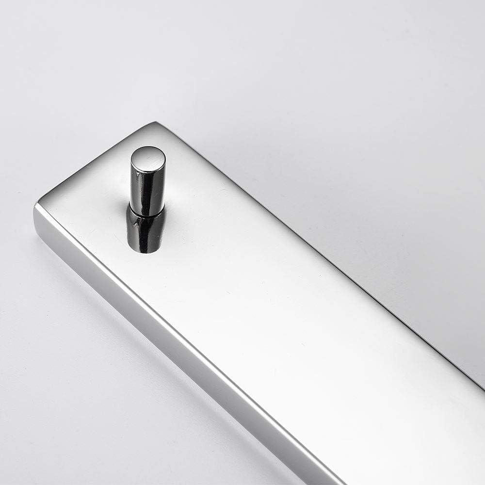 noir Melairy Porte-rouleau de papier toilette autocollant en acier inoxydable Finition chrom/ée Installation facile sans vis
